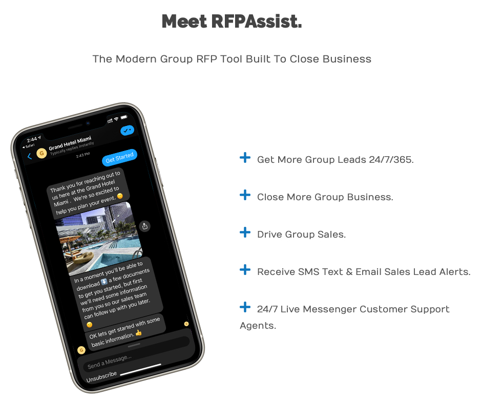 Lodging Interactive RFPAssist lead generation service
